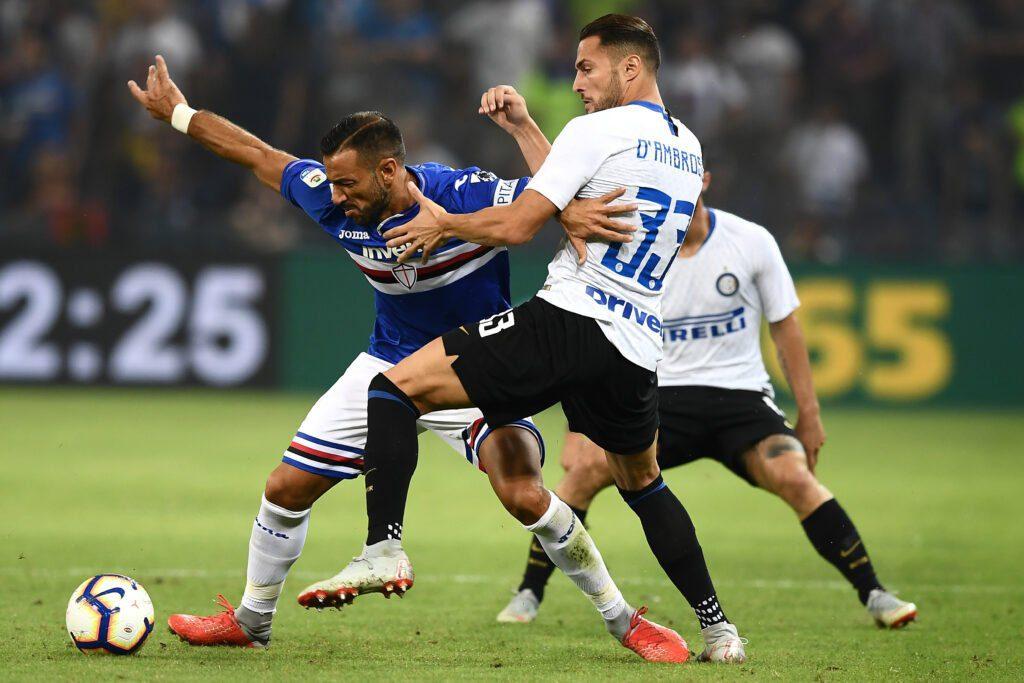 Quagliarella-D'Ambrosio, Sampdoria-Inter