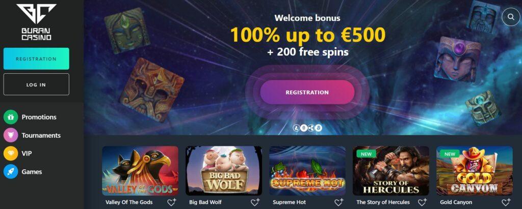 Promozioni e bonus al Buran Casino