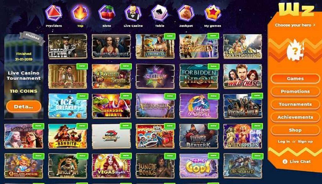 Slot e giochi Wazamba Casino