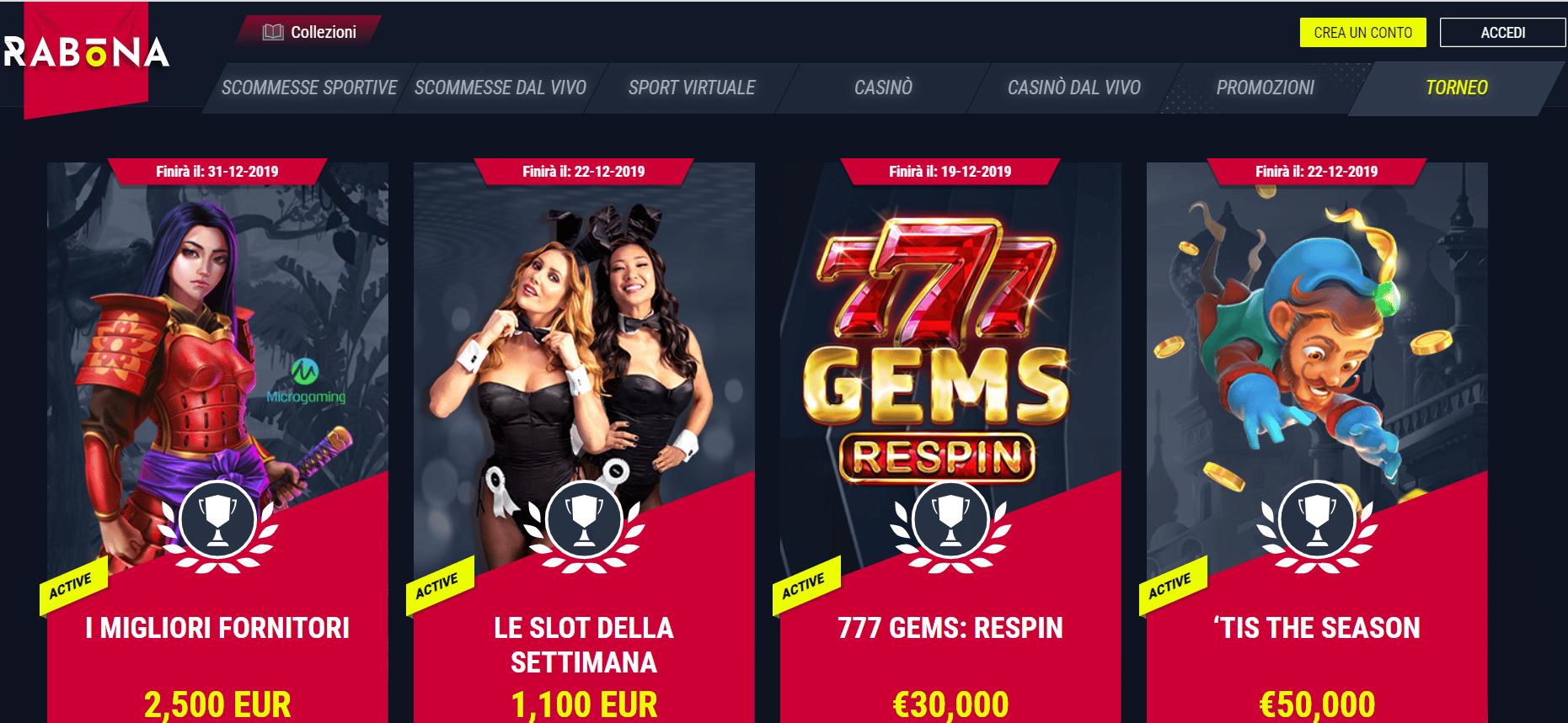Tornei Casino Rabona