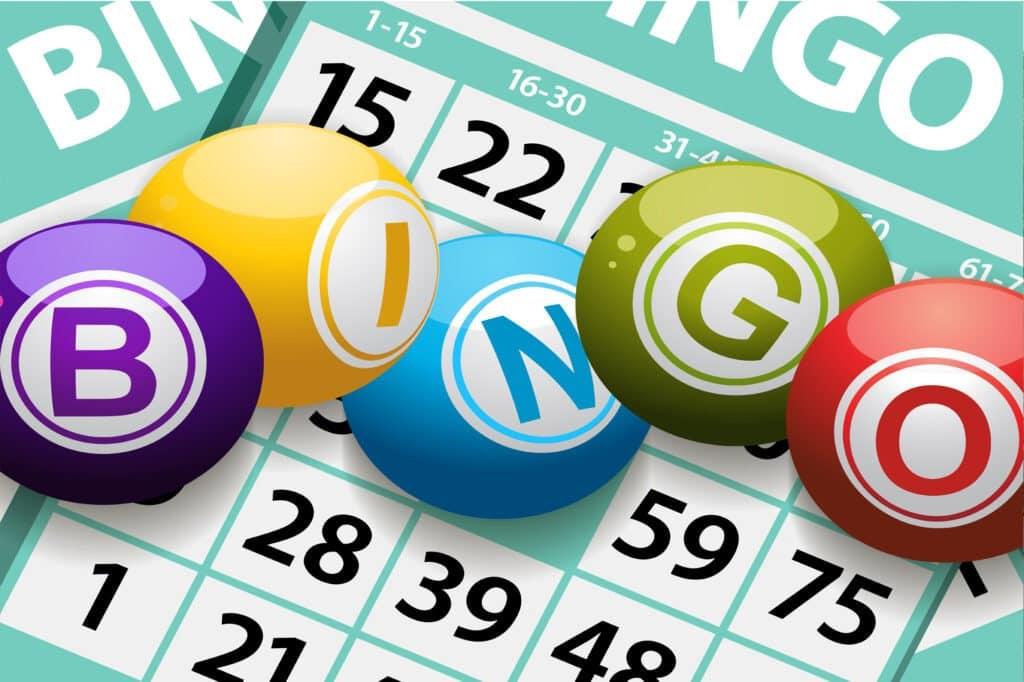 palline e cartella Bingo