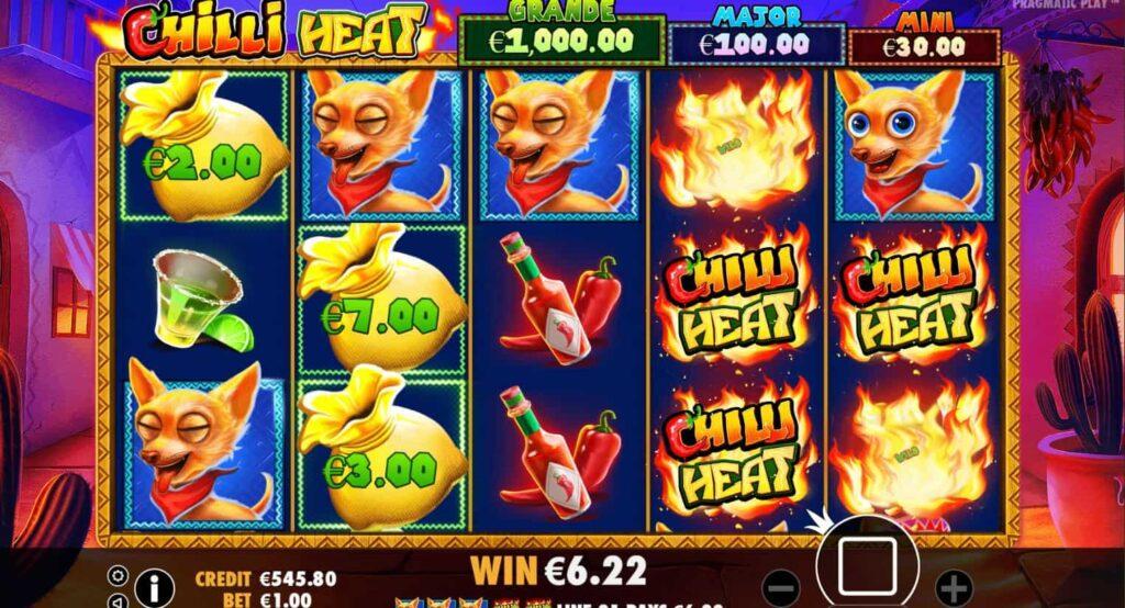 simboli Chilli Heat slot machine
