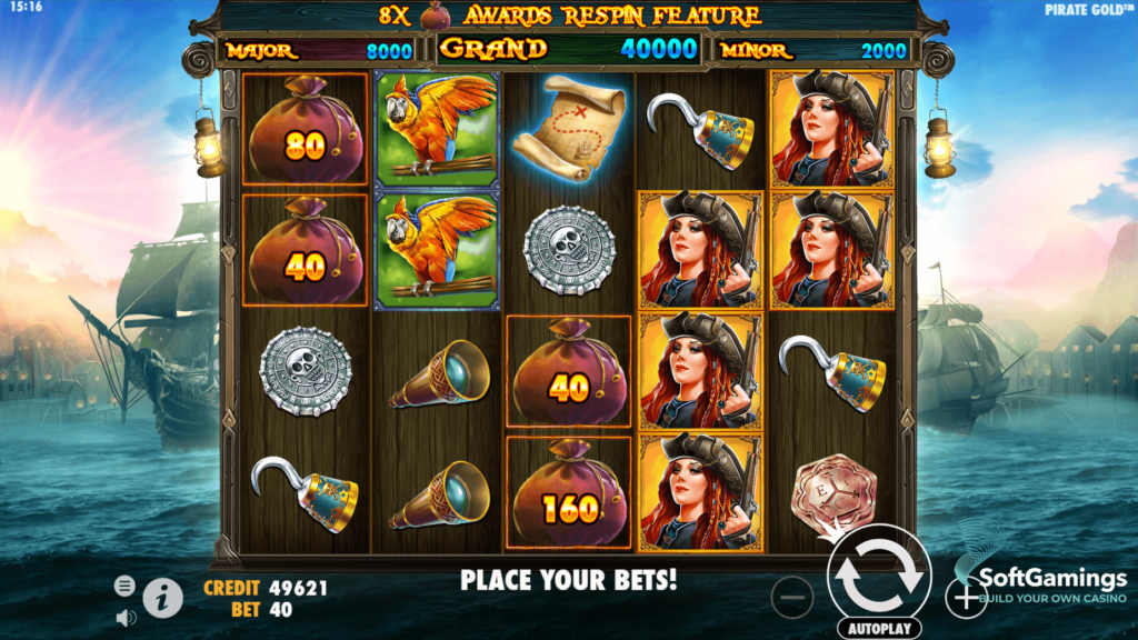 simboli Pirate Gold Slot Machine