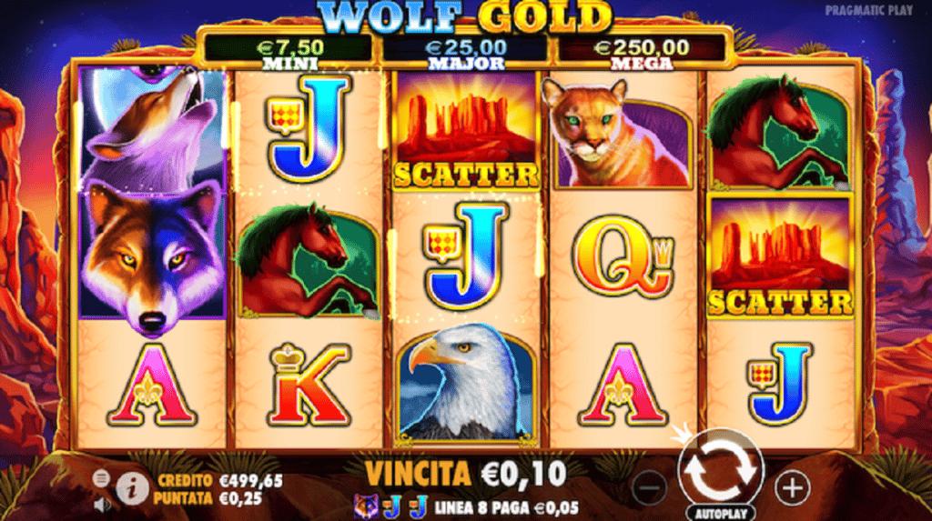 simboli Wolf Gold Slot Machine