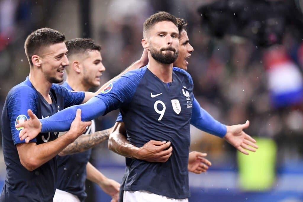 esultanza gol Giroud, Francia