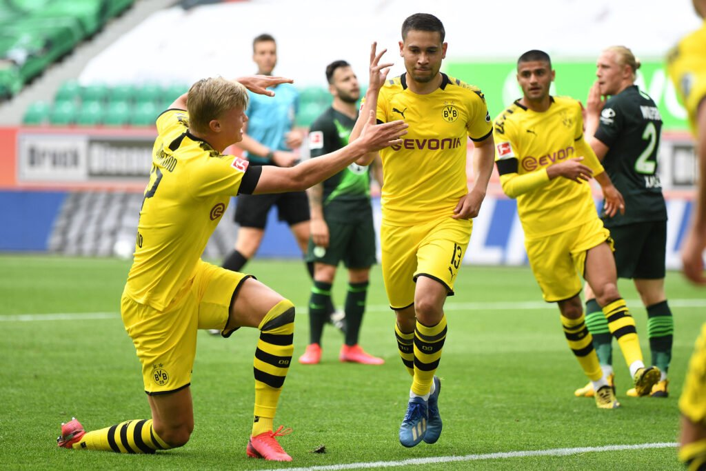 esultanza gol Guerreiro, Borussia Dortmund