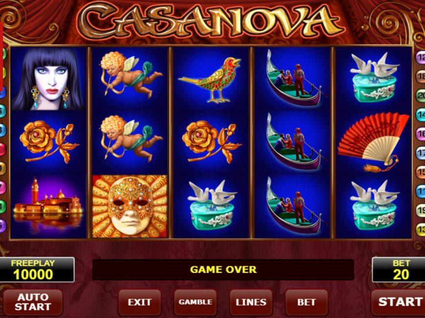 simboli Casanova Slot Machine