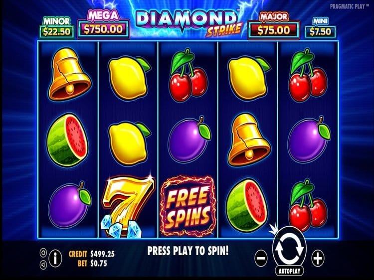 simboli Diamond Strike slot machine