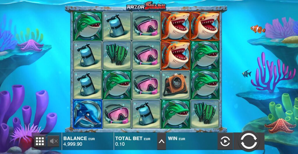 simboli Razor Shark slot machine