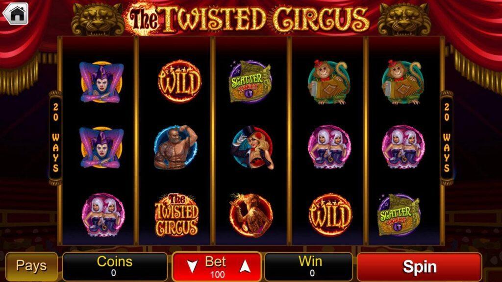 simboli Twisted Circus Slot Machine