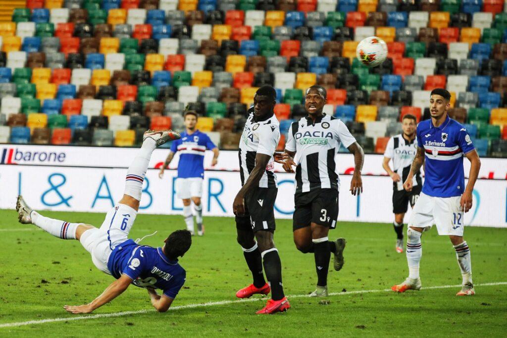 gol Bonazzoli, Udinese-Sampdoria