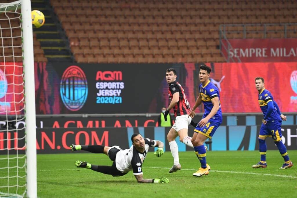 Milan-Parma, Serie A