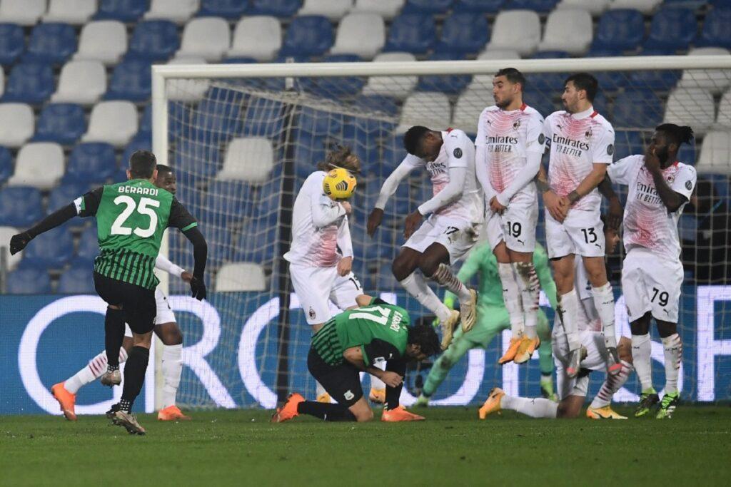 gol Berardi, Sassuolo-Milan