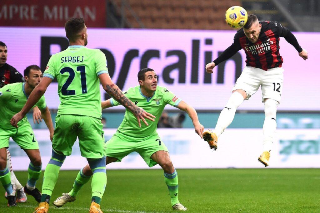 gol Rebic, Milan-Lazio