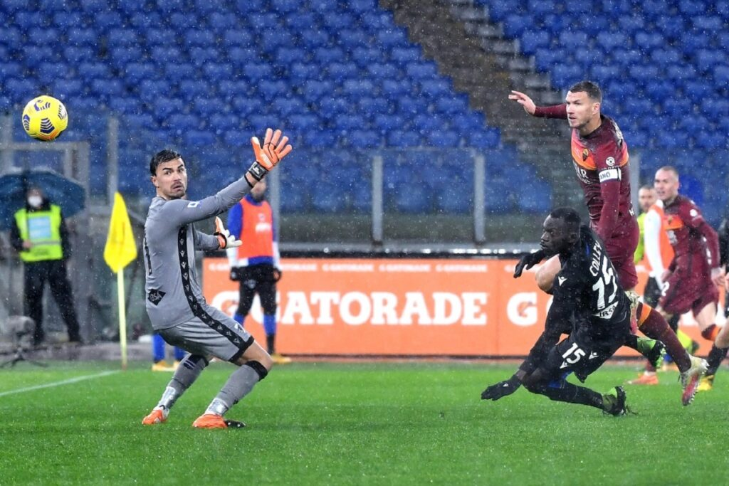 gol Dzeko, Roma-Sampdoria