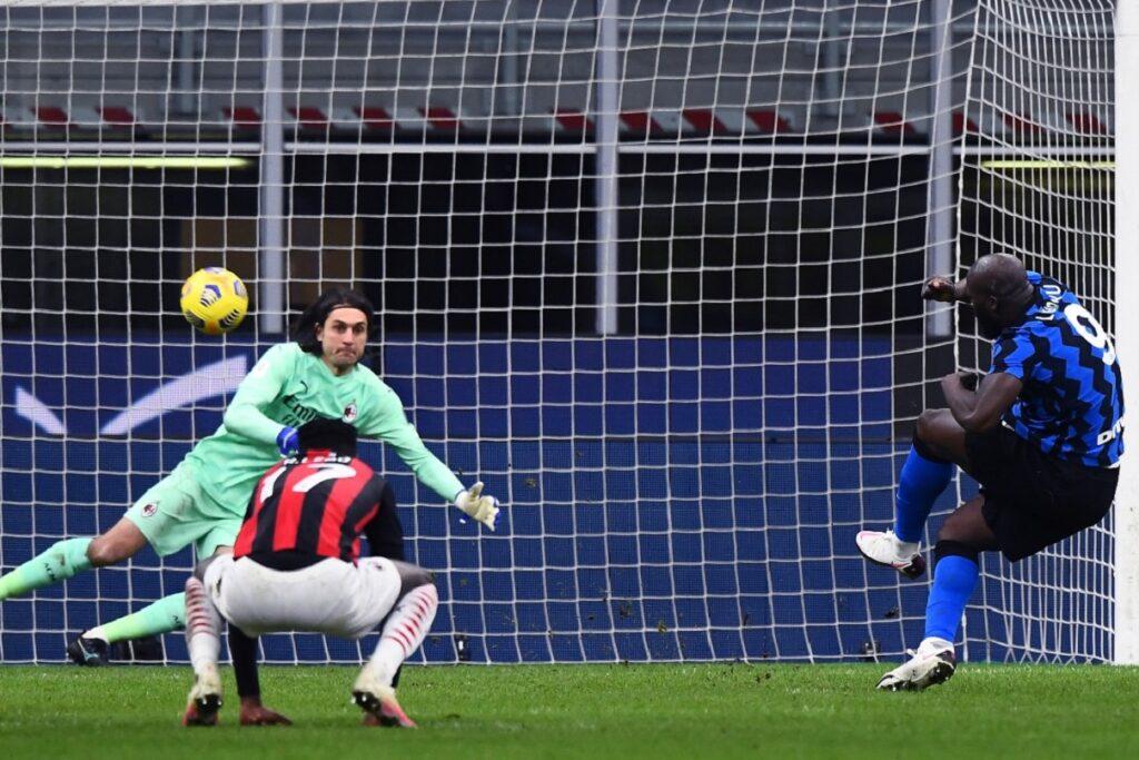 gol Lukaku, Inter-Milan Coppa Italia