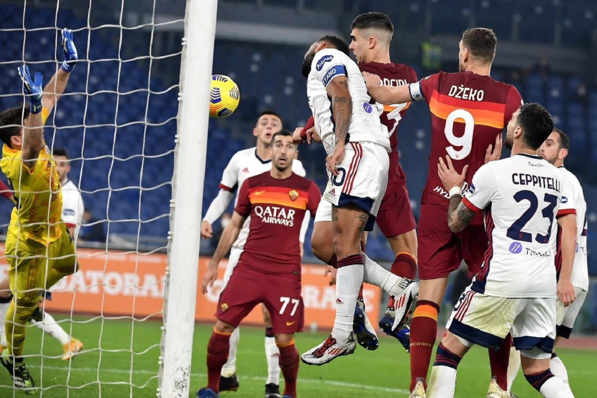 gol Mancini, Roma-Cagliari