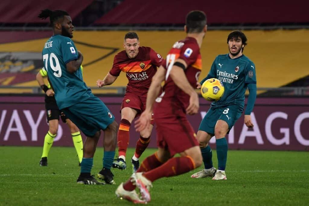 gol Veretout, Roma-Milan