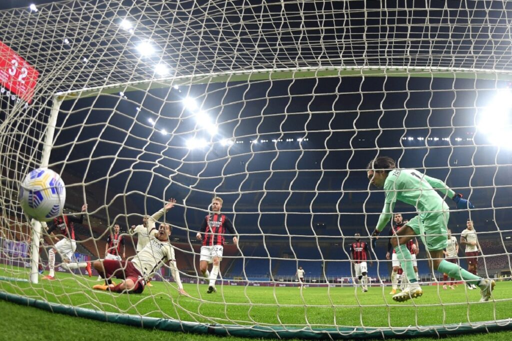 gol Kumbulla, Milan-Roma