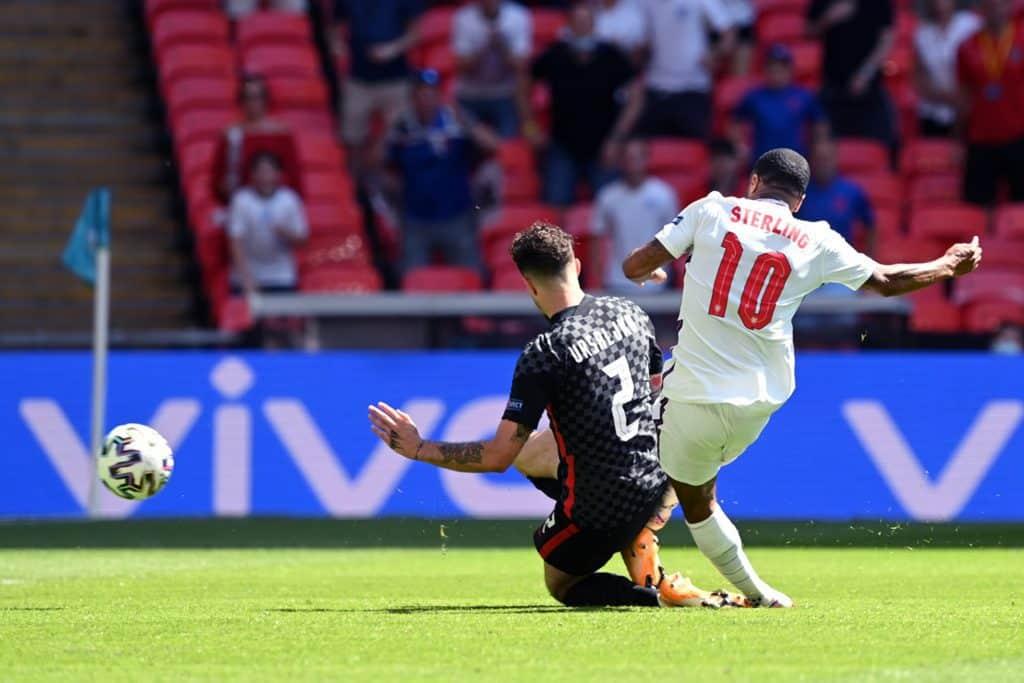 gol Sterling, Inghilterra-Croazia